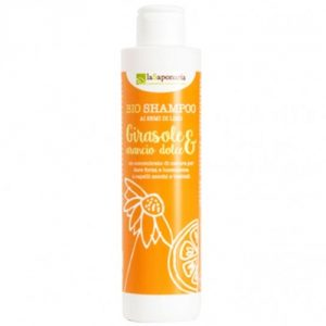 bio shampoo girasole e arancio dolce la saponaria