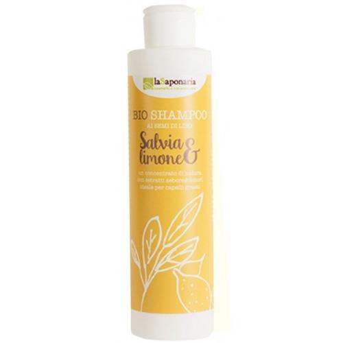 bio shampoo salvia e limone la saponaria