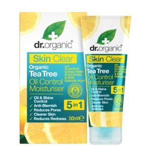 crema tea tree skin clear dr organic