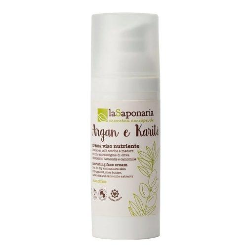 Crema viso nutriente Argan e Karité La Saponaria