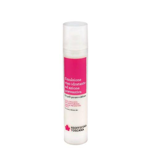 Emulsione viso idratante preventiva
