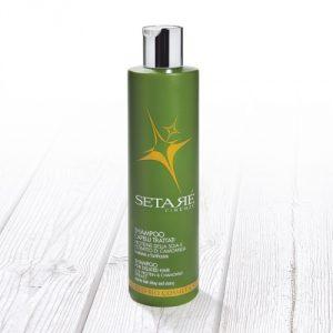Shampoo per capelli sfibrati con proteine della Soia Setarè