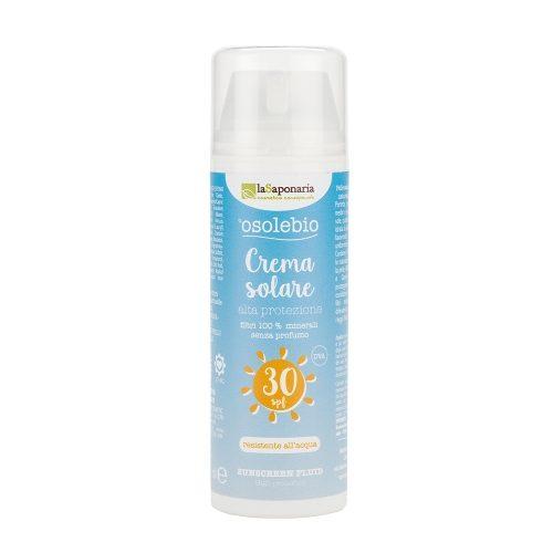 Crema solare 30 e 15 senza filtri chimici
