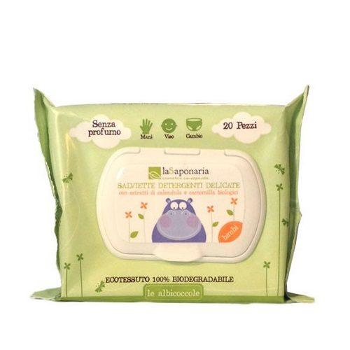 Salviette detergenti delicate bimbi La Saponaria