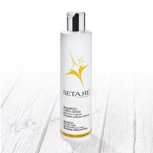 Shampoo eco bio capelli grassi Setaré