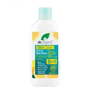 lozione tonica skin clear dr organic
