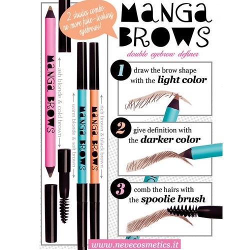 manga brows neve cosmetics