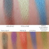 swatches palette duochrome neve cosmetics