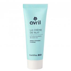 Crema notte leggera pelli normali e miste Avril