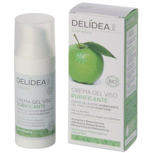 Crema gel viso purificante Mela e Bambù Delidea