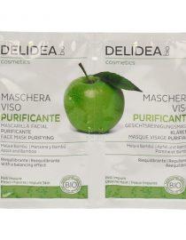Maschera viso purificante Mela e Bambù Delidea