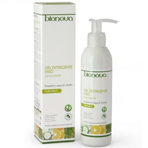 gel detergente viso struccante pompelmo e cetriolo bionova