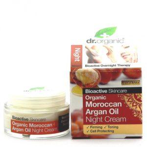 crema viso all'olio di argan notte dr organic