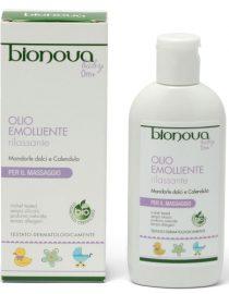 olio emolliente rilassante baby bionova