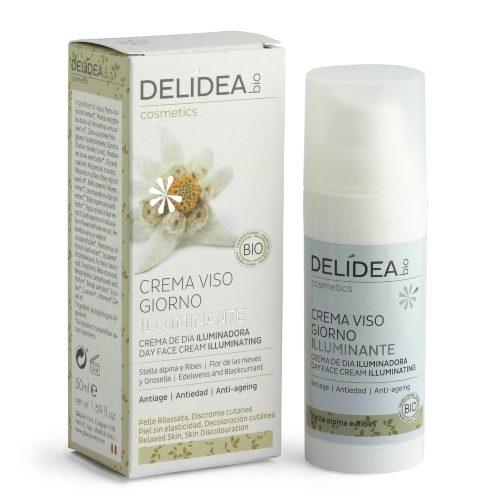 Crema viso giorno illuminante Stella alpina e Ribes Delidea