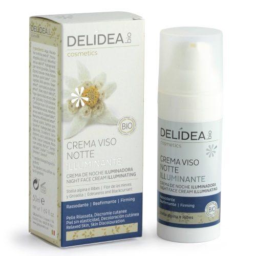 Crema viso notte illuminante Stella alpina e Ribes Delidea