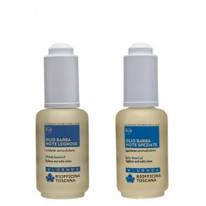 Olio Barba lucidante e ammorbidente Note Speziate – Note Legnose Biofficina Toscana