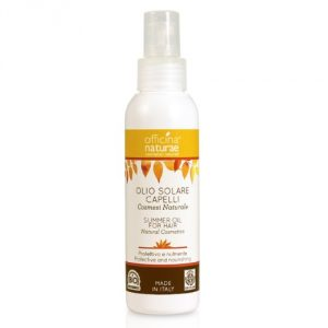 Olio solare capelli protettivo e nutriente