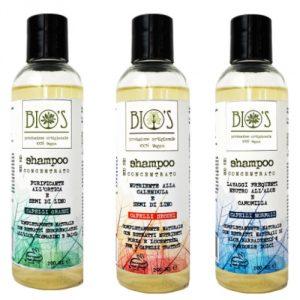 shampoo artigianali eco biologici bio's