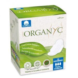 Assorbenti giorno ecologici 100% cotone bio