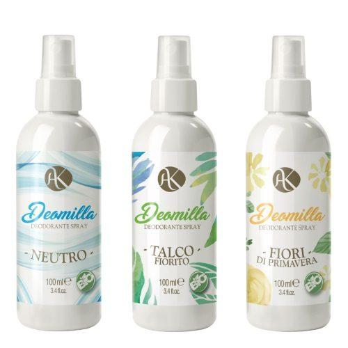Deodorante spray Alkemilla in 3 versioni