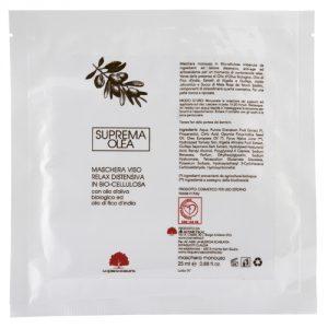 Maschera in Biocellulosa Olio di Oliva e Fico d'India