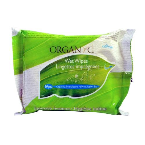 salviette per l'igiene intima organyc
