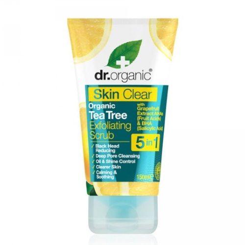 scrub esfoliante contro punti neri skin clear dr organic