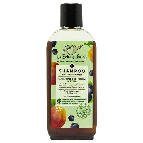 Shampoo Mirto e Susina rossa per capelli grassi e con forfora