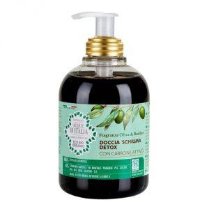 Doccia schiuma detox con Carbone attivo – Acque d'Italia