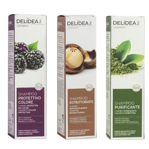 Shampoo Delidea in 3 versioni – ristrutturante, purificante, protettivo