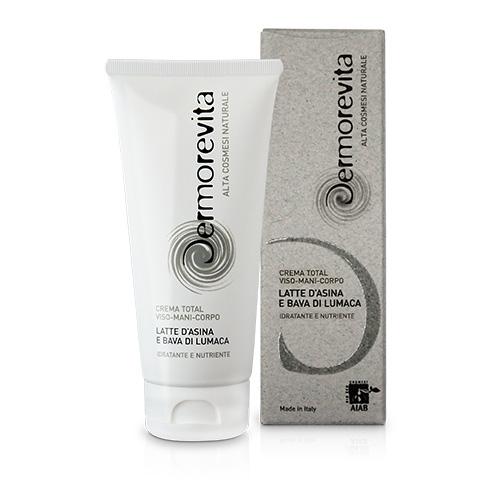 Crema Total viso-corpo-mani Bava di Lumaca e Latte d'Asina