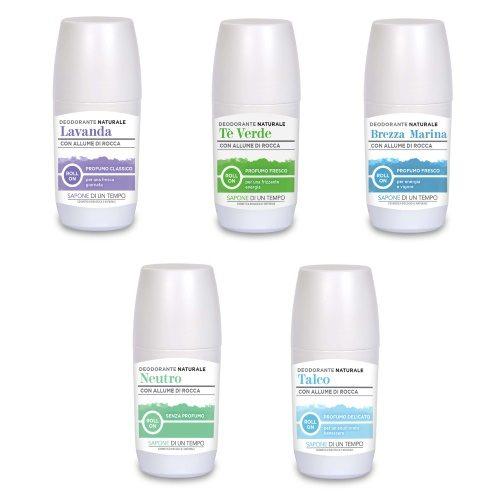Deodorante roll-on naturale con Allume di Rocca