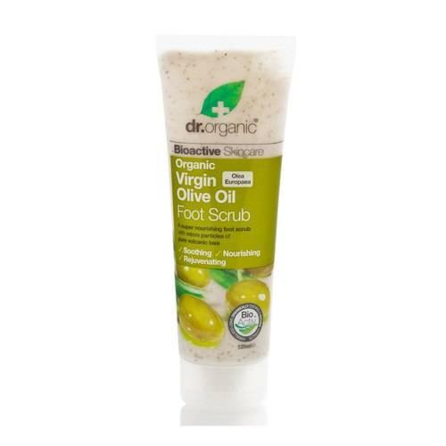 scrub piedi olio d'oliva dr organic