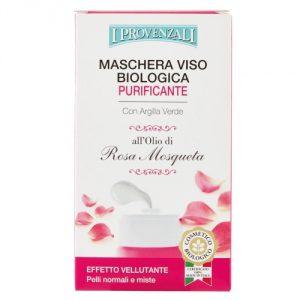 Maschera viso biologica purificante all'Olio di Rosa Mosqueta