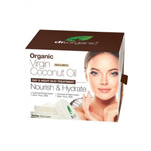 virgin coconut oil day & night duo treatment dr organic