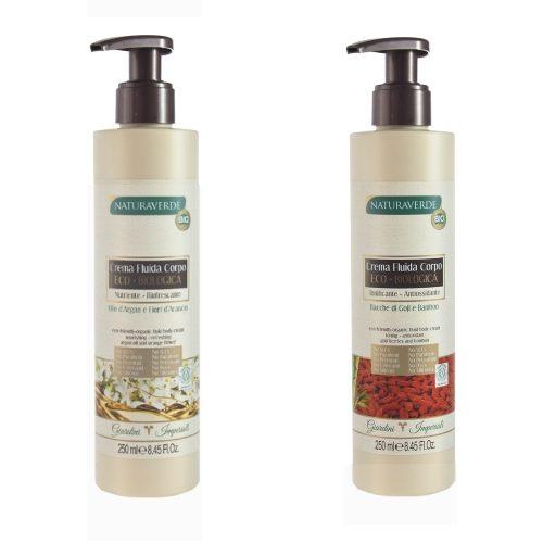 Crema fluida corpo Goji & Bamboo / Olio di Argan & Fiori d'Arancio