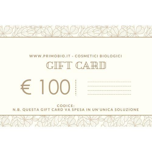 Gift Card 100 euro – Buono Regalo PrimoBio