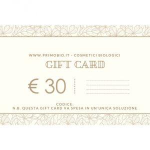 Gift Card 30 euro – Buono Regalo PrimoBio