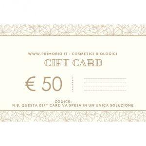 Gift Card 50 euro – Buono Regalo PrimoBio