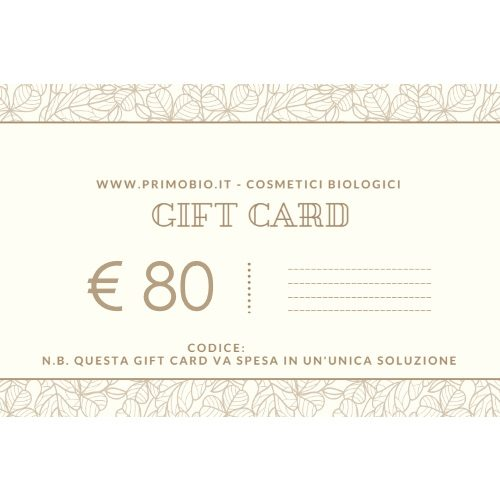Gift Card 80 euro – Buono Regalo PrimoBio