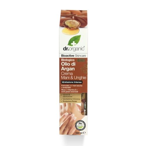 balsamo mani e unghie all'olio di argan dr organic