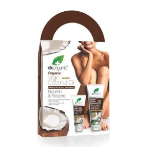 virgin coconut oil hand e body duo treatment dr organic