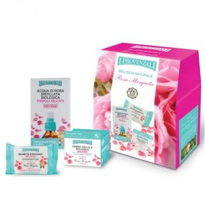Cofanetto Rosa Mosqueta Acqua + Crema + Salviette
