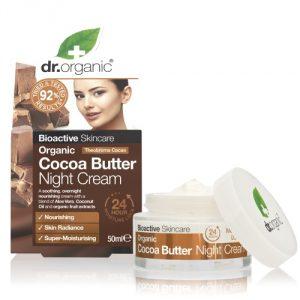 Crema Notte al Burro di Cacao Dr Organic