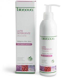 Latte Detergente Struccante Melograno e Rosa alpina Bionova