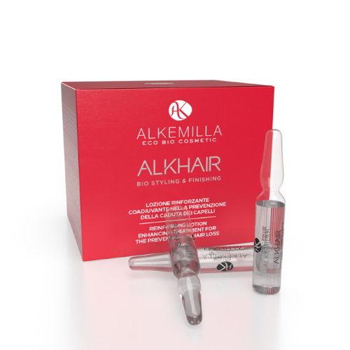 Lozione rinforzante coadiuvante nella prevenzione della caduta dei capelli Alkemilla