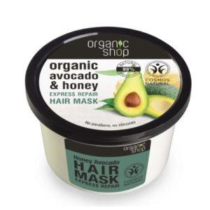 Maschera capelli Avocado & Miele Organic Shop
