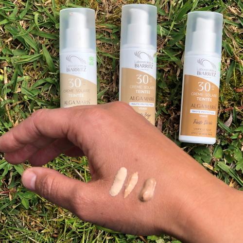 Crema solare colorata per il viso Alga Maris