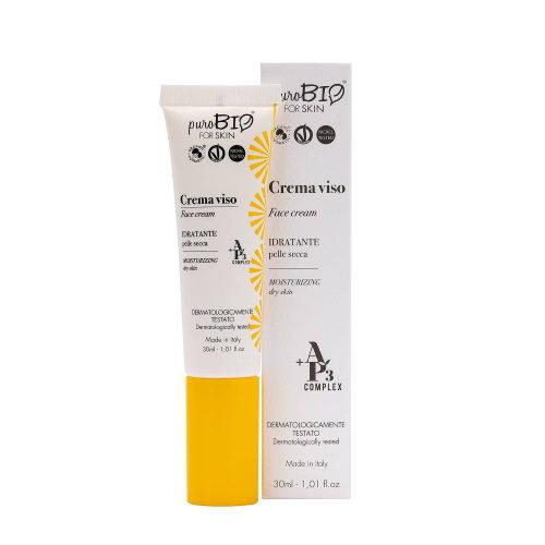Crema viso idratante pelle secca PuroBio